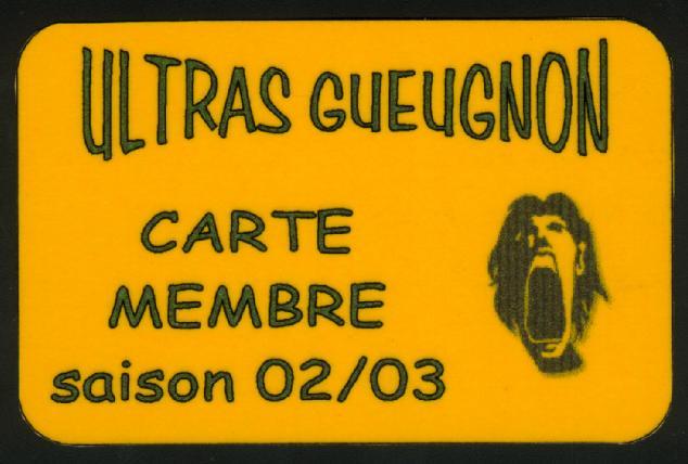 Carte de membre 2002-2003