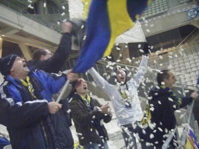 reims gueugnon Ultras neige animation drapeau