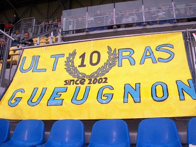 Ultras Gueugnon 10 ans anniversaire banderole